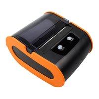 الطابعات اللون البرتقالي منخفضة التكلفة الملصق ملصق طابعة 80MM 3inch بلوتوث