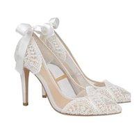 드레스 신발 Kmeiooo Sapatos de Salto Alto Stiletto Feminino, Baixos Com Renda Ponta Fina, Elegante, Para Casamento Zcoo