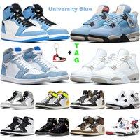 air Jordan 1 retro  Silt Red What The 4 4s Uomo Donna Scarpe da pallacanestro Cemento bianco Puro allevato Sneakers Scarpe sportive taglia 7-13