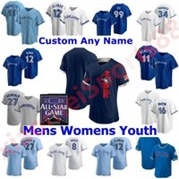 Toronto homens mulheres juventude azul jays 2021 Jogos de All-Star Jerseys Baseball Bo Bichette Vladimir Guerrero Jr. Cavan BigGio Hyun-Jin Ryu Yamaguchi Randal Drury