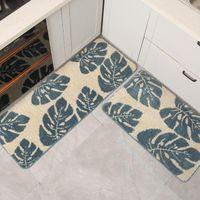 Carpets Banana Leaf Kitchen Long Floor Mats Super Soft Fiber Non-slip Absorbent Bath Bedroom Bedside Door