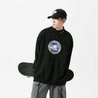 Sweats à capuche pour hommes Sweatshirts Polar Bear Impression Sweat-shirt Pour Hommes Automne Grands Vêtements Japonais Streetwear Harajuku Skateboard Haute Pull Turtleneck Oka1