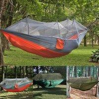 Viajes al aire libre Mosquitera Hamaca Doble 210T Nylon Camping Paño Air TENT Parachute Anti-Mosquito J5D3