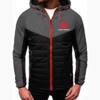 Men's Hoodies & Sweatshirts 2021 Winter Down Warm Coat Jacket Hoodie Man MASSEY FERGUSON Print Colorblock Designer Custom Solid Male
