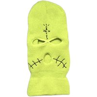 Mask 3 Ski Hole Balaclavas Knitting Hat Green Cap Cs Bandit LVDB