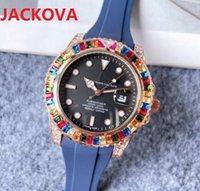 High quality fashion womens mens quartz watch 41MM Diamonds Ring bezel Sapphire Ladies Rubber Silicone Nice clock gifts Super Luminous Lady Watches montre de luxe