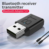Car GPS & Accessories Bluetooth 5.0 Audio Receiver Transmitter Wireless Dongle AUX Port Adapter LED Indicator Emitter Mode 10m Barrier Free