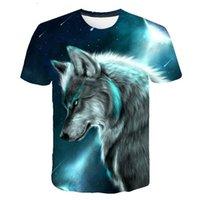 Lovers Wolf Printed T shirts Men 3D T-Shirts Drop Ship Top Tee Short Sleeve Camiseta Round Neck Tshirt Fashion Casual Brand T41