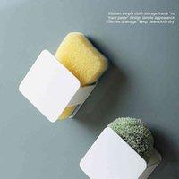 Sünger Tahliye Rafı Duvara Monte Mutfak Ocak Kumaş Depolama Tutucu Mini Plastik Yumruk Ücretsiz Temizleme Bilyalı Raf Mutfak Gereçleri