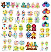 24h DHL Fidget Zabawki Cartoon Niedźwiedź Dzieci Daily Zabawki Wypoczynek Proste Ciśnienie Wentylator Wentylacja Decompression Antystress Zabawki dziecięce Xmas Tree Cy14
