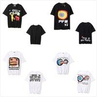 Homens camisetas Mulheres de manga curta das mulheres de alta qualidade T-shirt de verão tshirt carta tridimensional espuma pequena bomba de diabo impressão smiley rosto hip-hop 0102
