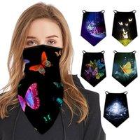 Butterfly 3D Digital Balaclava Cycling Neck Tube Scarf Face Mask Bandana Print Colorful Headband Hiking Motorcycle Caps & Masks