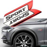 2pcs 스포츠 로고 사이드 스티커 자동차 펜더 스티커 BMW Volvo Mercedes Benz Jaguar Toyota Honda Kia Skoda Fiat 좌석 Opel Nissan