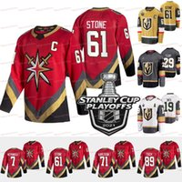 Vegas Golden Knights 2021 Stanley Cup Playoffs Jersey Mark Stone Marc-Andre Fleury Max Paciornetty Ryan Reais Reilly Smith Pietrangelo Tuch Marchessault