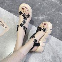 Elbise Ayakkabı 2021 Sandalet Siyah Kadınlar Için Takunya Topuk Bej Kalın Rhinestone Konfor Kızlar Yaz Yüksek Plaj Moda Temizle PU C