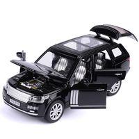 Range ROVER SUV 1:32 Barns simulerade leksaksbil, Alloy SUV, 6 dörrar öppna, presentsamling