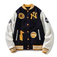 Unisex Varsity Baseball Jackets Casal Streetwear Letterman Casaco com Bordado Colégio Outerwear De Couro Manga Masculina