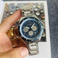 손목 시계 럭셔리 쿼츠 남성 시계 일본 브랜드 고품질 비즈니스 캐주얼 가죽 밴드 시계 남자 세계 크로노 그래프 손목 시계 남자