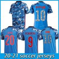 21 22 Giappone National Team Okazaki Kagawa Mens Soccer Jerseys Honda Hasebe Nagatomo Casa Blu Away White Football Camicie Camicie Uniforme Taglia S - 4 XL