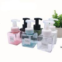 250ml de la bouteille de pompe à mousse vide Savon à la main Distributeur moussant de voyage carré maquillage carré shampooing bouteille HWD6815
