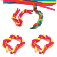 Fast ship Fidget Decompression Rope DIY Noodle Ropes Sensory Toys Kids Adult Fidget Abreact Flexible Glue Ropes Stretchy String Neon Slings