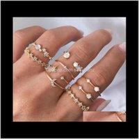 العنقودية كريستال ستار القمر الذهب الماس المشتركة حلقة المفصل خواتم النساء الأزياء والمجوهرات وسترندي هدية nsjqu qkt0h