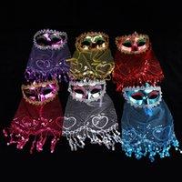 PROM Veil Veil Masque Masquerade Performance Fournitures Filles Dentelle Sexy Mystérieuse Beading Tassel Veil-Masque Masque Masques De Noël Decoration