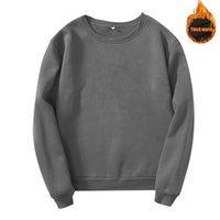 Men's Sweaters Customize Your Image Solid Color Men Women Sweatshirts Cotton Loose Pullover Round Neck Long Sleeve Sweatshirt