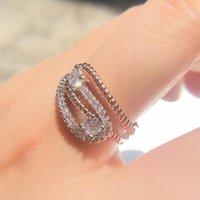 Wedding Rings Women Jewelry Accessories Fine Body Jewellery Fashion Engagement Ring Funny Zircon Metal Love