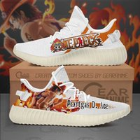 D DIYAnimeFanSneakers Portgas Ace Shoes One Piece Custom Anime Shoes Human Running Lightweight Athletic Sports Gym Sneakers