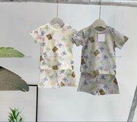 Baby Boy Девочка Одежда Одежда Летние Дети Мультфильм футболка Tee Шорты Установить дизайнер Малыш Новорожденный Младенческий Спортивный Pajamas Cousssuit