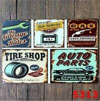 Panneaux d'étain en métal personnalisé Sinclair Moteur Huile Texaco Poster Accueil Bar Bar Decor Mur Art Photos Vintage Garage Sign 20x30cm FWD6215