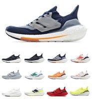 أعلى جودة ultraboost 21 UB 7.0 2021 الاحذية الشمسية الأصفر الوردي الثلاثي الأساسية الأسود هالة الفضة sashiko الركض المشي الرجال النساء scarpe tenis trainer sneakers