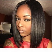 Factory Supply Human Hair Lace Front Straight Bob Wigs for Black Women Virgin Hair Straight Full Lace bob Wigs 130%150% Density