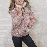Hoodies & Sweatshirts Children Baby Girls Coat Toddler Long Sleeve Keep Warm Solid Fleece Tops Pullover Sweatshirt Outerwear Clothing