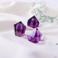 Natural Ametista Cristal Quartzo Ponto Artesanato Reiki Cura Cakra Gemstone Áspero Energia De Pedra Desaussing Ornamentos DHD8930