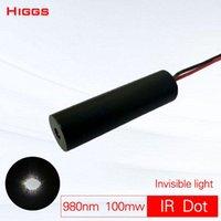 Absoluut onzichtbare 980 nm 100mw infrarood dot laser module IR Launcher projectie touch aanwijzer nachtjacht CS Pistool Sight Portable Lante