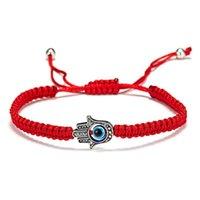 Rinhoo Lucky red String нить ручной ладонь браслеты синий турецкий злой глаз очарование женщин ручной работы дружба ювелирных изделий подарки