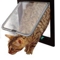 Mittlere Katzentür für Innere Außenraum Flap Kitty Doggy Carriers, Krippenhäuser