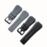 Watch Bands 34 * 24mm Waterproof Smooth Convex Soft Sillicone Rubber Strap For Bell & Ross BR01 BR03 Men Watchband Bracelet