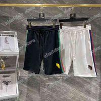 21SS MENS Designer Shorts Pantalones Pantalones Irregular HEM Letra Hombres Pantalón Pantalones Casuales Pantalones Negro Blanco Color
