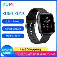 KUMI KU1S 여성 스마트 시계 터치 완료 피트니스 트래커 혈압 심장 박동 모니터 BT5.0 SmartWatch Android iOS