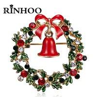 Buon Natale corona spilla, campana di Natale, fiocco di neve, corona a forma di cuore, spilla di risvolto, stella smalto bae, gioielli di Capodanno