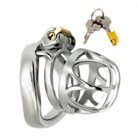 YEAIN Male Chastity Device Bondage Cock Ring curved Stainless Steel Penis Cage Cock Cage Sex Toys for Men Adult Toys Penis Sleeve