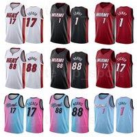 Hombres niños Mujeres Baloncesto PJ Tucker Jersey 17 Kyle Lowry 1 Markieff Morris 88 Rojo Negro Blanco Azul Pink TEAM Color para los fanáticos del deporte Camisa Pantalla transpirable Impresión