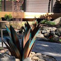 27 35 65cm Diy Art Tequila Rustic Sculpture Garden Decoration Outdoor Yard Home Decor Tuin Decoratie Jardin 9 Leaves Decorative Flowers & Wr