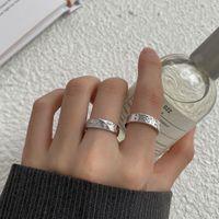 Silvology 925 Sterling Silver Zircon Butterfly Rings for Women Vintage Creative Texture Korea Adjustable Rings Luxury Jewelry