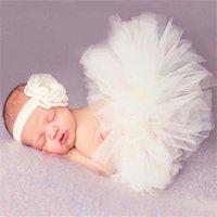 Newborn Photography Props Baby Girls Princess Tutu Skirt Headband New Born Girl Photo Green Pettiskirt fotografia accessories 1994 Z2