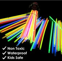 100Pcs bag Party Favor Fluorescence Light Glow In The Dark Sticks Bracelet Necklace Neon Wedding Birthday Party Decoration Halloween Props DHL shipping