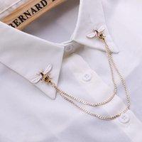Pins, Broşlar Sevimli Arı Vintage Pins Hayvan Alaşım Metal Zincir Broş Broches Adam Takım Elbise Gömlek Yaka Püskül Yaka Pin Kadınlar Takı Hediye